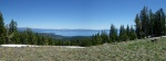 Panoramic views in every direction- looking east from Scott peak