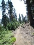 Climbing to Scott Peak