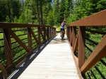 The bridge over Ward Creek