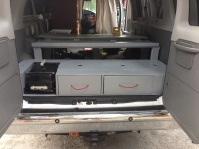Two large drawers, a built in BBQ compartment