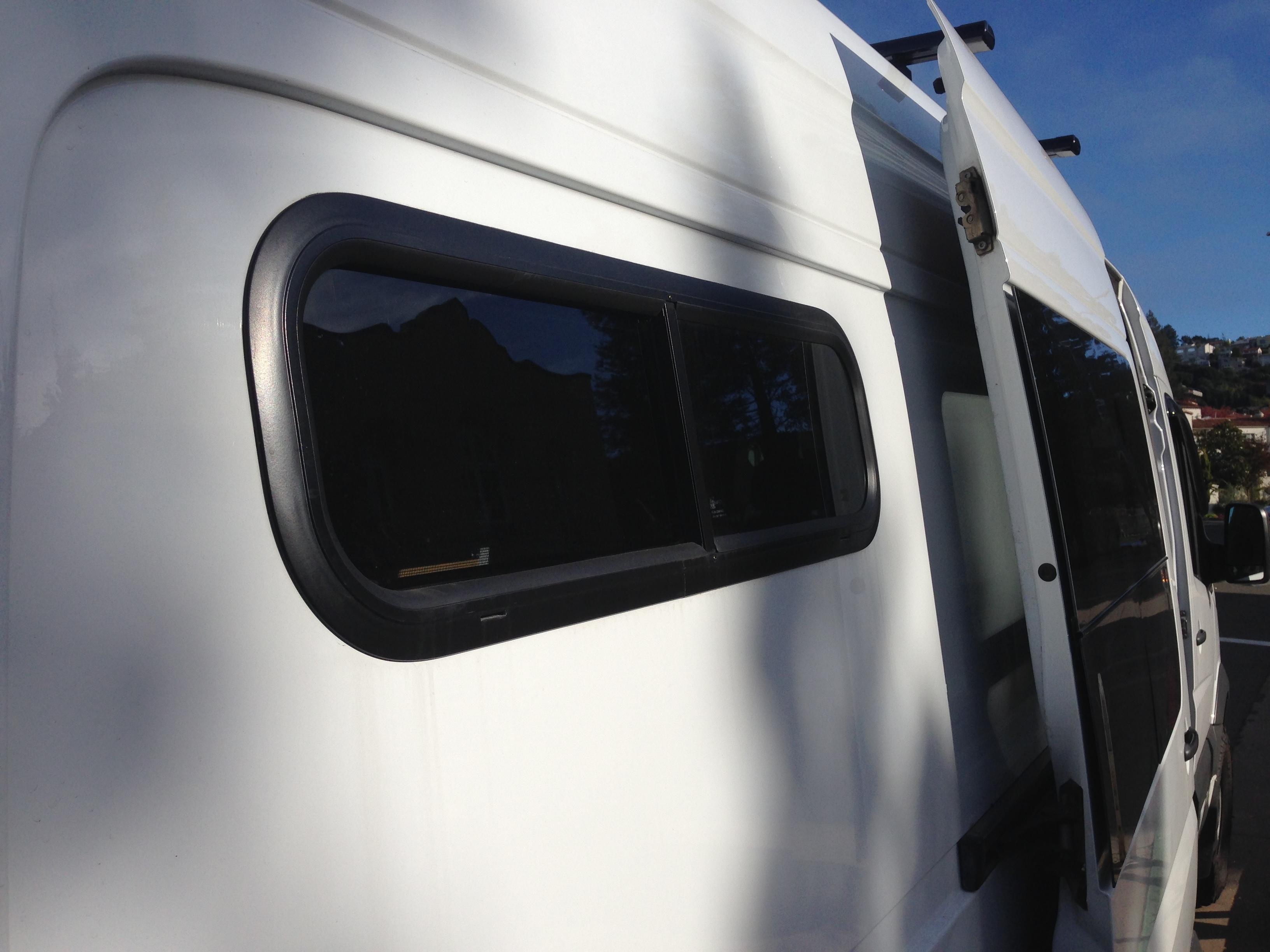 Installing rear windows in a Sprinter Van – RadVanAdventures com