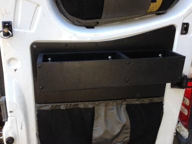 Rear door storage box for bike maintenance