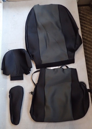 Four part seat covers.