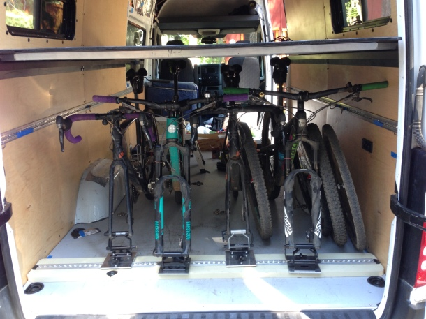 Four Bikes Under The Platform Bed